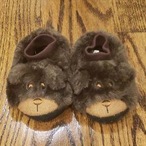 LL Bean toddler bear slippers